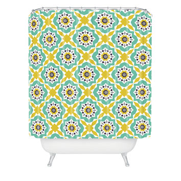 Heather Dutton Mattonelle Shower Curtain