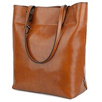 BIG SALE- 40% OFF- YALUXE Women's Soft Leather Work Tote Shoulder Bag (Upgraded 2.0)