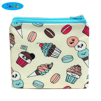 NEW! Macarons Coin Purse-Ice Cream Change Wallet-Kawaii Zip Bag-Cupcakes Coin Pouch