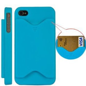 Leegoal(TM) Credit Card Matte Hard Case Cover for iPhone 4G and iPhone 4GS (AT&T and Verizon) BLUE