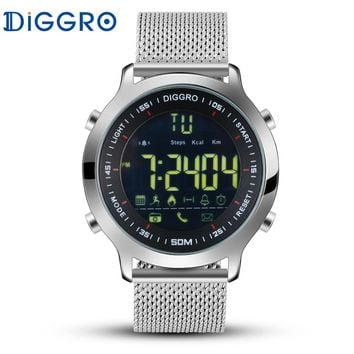 Diggro DI04 Smart Watch 5ATM Waterproof Swimming Fitness Tracker Step Calorie Count Smartwatch Connected For iphone Android