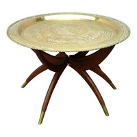 Pre-owned Vintage Moroccan Tray Table
