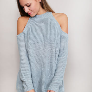 Head In The Clouds Sweater {Blue}