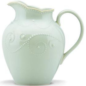 French Perle Ice Blue Medium Pitcher by Lenox