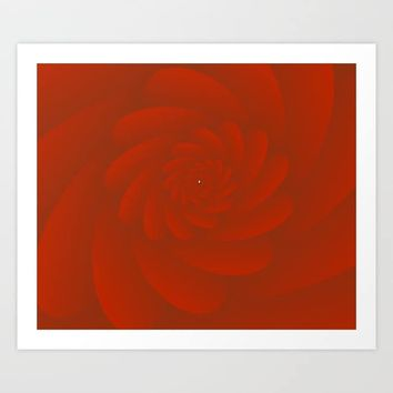 3D Red Rose Art Print by rizwana