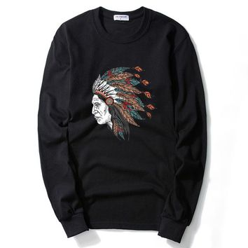 Big Indian Chief Long Sleeve T Shirt