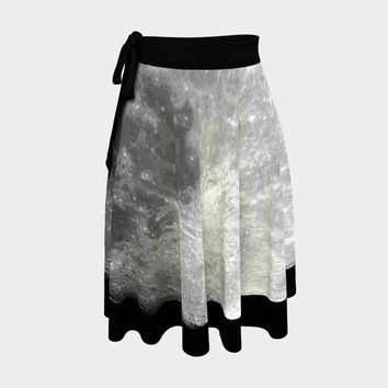 Full Moon Wrap Skirt   Hippie Clothes   Festival Clothing   Aesthetic   Witchy Witch Halloween Pagan   Boho Bohemian   Space Astronomy