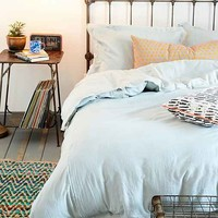 4040 Locust Frayed Edge Duvet Cover- Grey