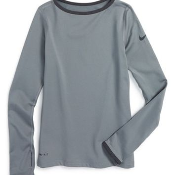 Nike 'Pro Hyper Warm' Dri-Fit Long Sleeve Top (Big Girls) | Nordstrom