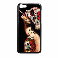Floral Sugar Skull Tattooed iPhone 5c Case