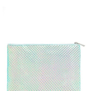 Studded Holographic Clutch
