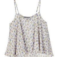 For Love & Lemons White Floral Spring Tank