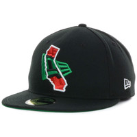 California Flag In State 59FIFTY Cap - http://www.anrdoezrs.net/click-7710548-11191294?url=http%3A%2F%2Fshop.neweracap.com%2Fproduct%2F20583621 / Black/Kelly Green/Red / 100% Polyester, Woven