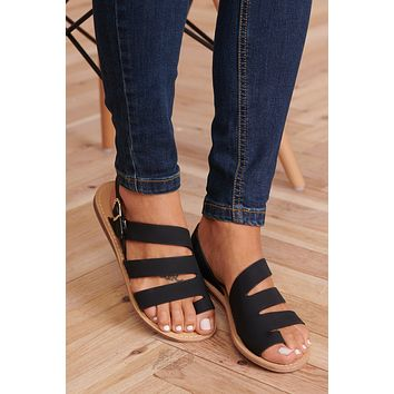 Strappy Perfection Sandals (Black)