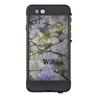 Hard Rock Cracked Stone with Lichen and Your Name LifeProof® NÜÜD® iPhone 6 Case