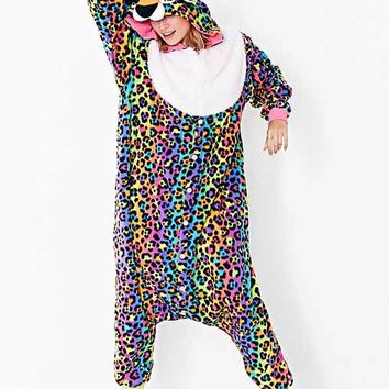 Lisa Frank X UO Hunter Leopard Kigurumi Costume- Multi One