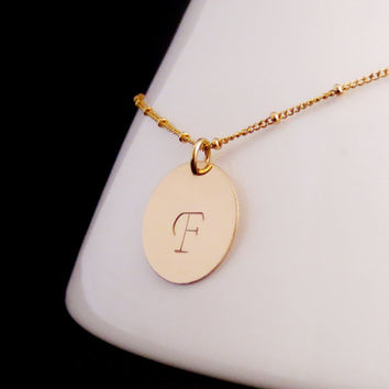 Gold Initial Disc Necklace, Personalized Necklace, Kardashian Inspired, Mothers Necklace, Sister Mom Aunt Cousin, Mothers Day, Valentines