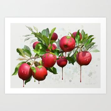 Melting Apples Art Print by IvanaW