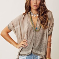 Gold Hawk Daisy Feather Square Top