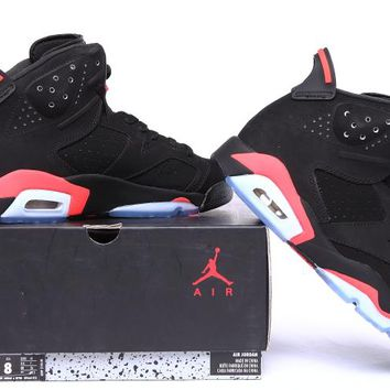 Nike Air Jordan 6S VI Retro Black Infrared Basketball Shoes