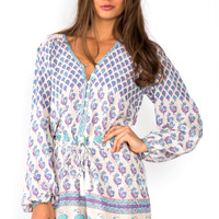 Spell Bohemian Royale playsuit - deep purple