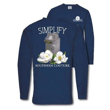 Southern Couture Preppy Simplify Comfort Colors Long Sleeve T-Shirt