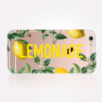 Transparent Lemonade iPhone Case - Transparent Case - Clear Case - Transparent iPhone 6 - Gel Case - Soft TPU Case - Samsung S7