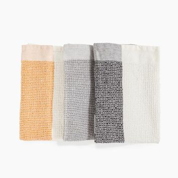 Cotton Tea Towel Set in Neutrals