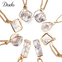 DODO 8 Styles Pendant Necklaces Women & Men Vintage Long Necklace Jewelry Silver Gold Color Clear Glass Supernatural Colar LN19