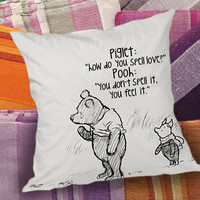 Winnie the pooh quote  decorative pillow and pillow case