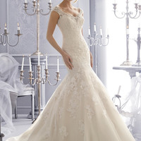 Mori Lee 2672 Open Back Lace Fit & Flare Wedding Dress