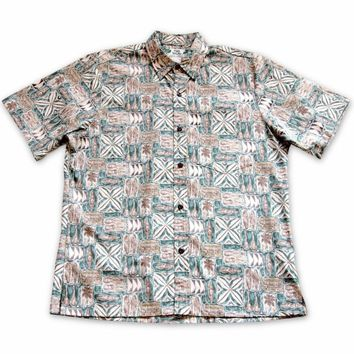 Olukai Green Hawaiian Reverse Shirt
