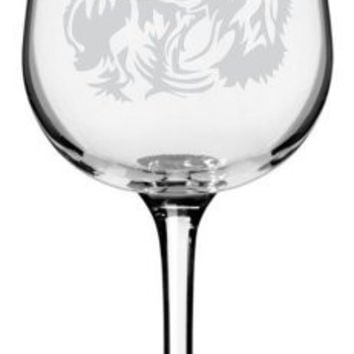 Cavalier King Charles Spaniel Dog Themed Etched All Purpose 12.75oz Libbey Wine Glass
