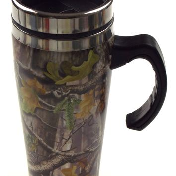 Camo Coffee Travel Mug Stainless 16 Oz