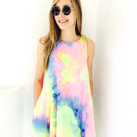 I Wanna Be Your Illusion Dress- Pastel Tie Dye {Boutique Collection}