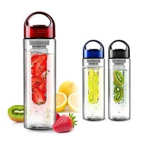 Good  Sale 700ML Plastic Fruit Infuser Water Bottle With Filter Leakproof Sport Hiking Camping Drink Shaker Bottle