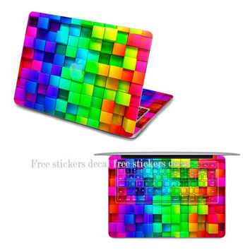 Rainbow macbook decal keyboard decals macbook air decal cover macbook pro keyboard decal macbook decals sticker mac decals Apple Mac Decal