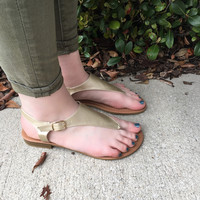 Gold As You Sandals - Gold