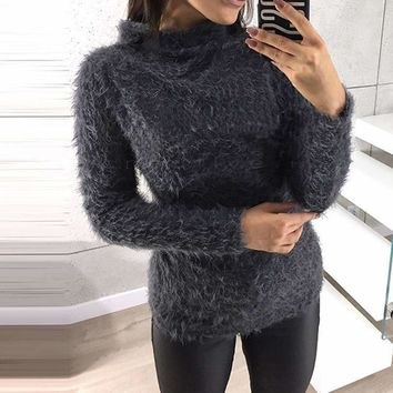 MY MALL METRO  Women Turtleneck Long-Sleeve Plus-Size h Sweater  Check Homepage for Promo Codes! <