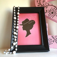 Lady Silhouette - 4 x 6 Art Print For Home Decor