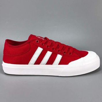 ADIDAS TRENDING RED MATCH COURT JACK PURCELL WOMEN MEN FASHION SHOES