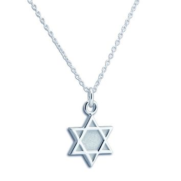 THETFORD STERLING SILVER STAR OF DAVID NECKLACE