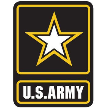US Army Star USA sticker decal white gloss high grade vinyl