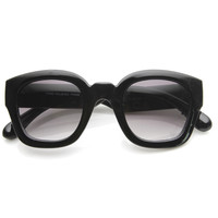 Retro Era Thick Square Frame Hipster Sunglasses 8969