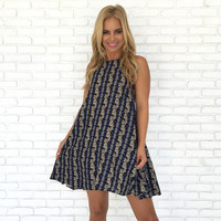 In The Loop Print Dress