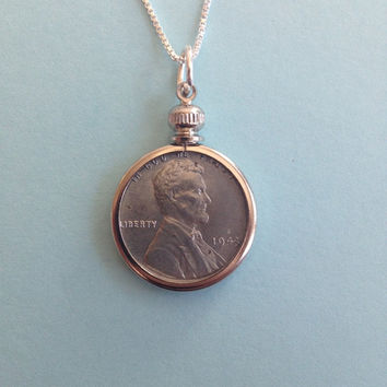 WWII Steel Penny Necklace (1943) #2