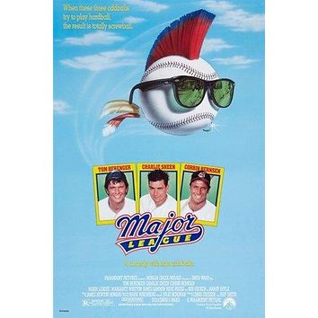 MAJOR LEAGUE vintage movie poster TOM BERENGER CHARLIE SHEEN baseball 24X36