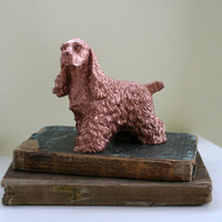 Copper Resin Dog, Painted Dog, Copper Dog, Cocker Spaniel Home Decor