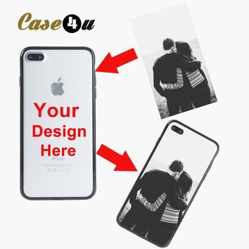 Personalized DIY Hard PC Phone Case Soft Silicon Cover for Coqu iphoneX 6 6s 7 8plus Printed Customized photo unique design cape