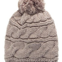 The North Face Triple Cable Pom Beanie Metallic Silver, One Size